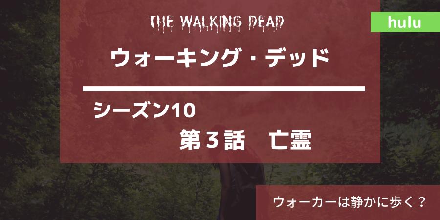 ウォーキング・デッドシーズン10|3話亡霊あらすじ感想ネタバレ。ウォーカーは静かに歩く。